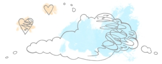 clouds and hearts