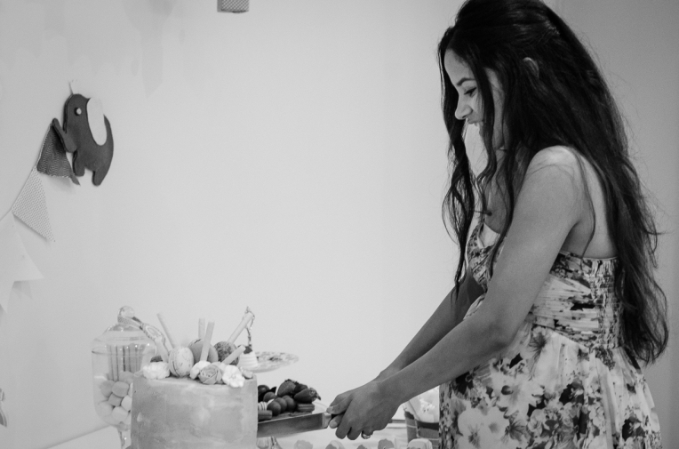 Ann's Baby Shower - B&W-7