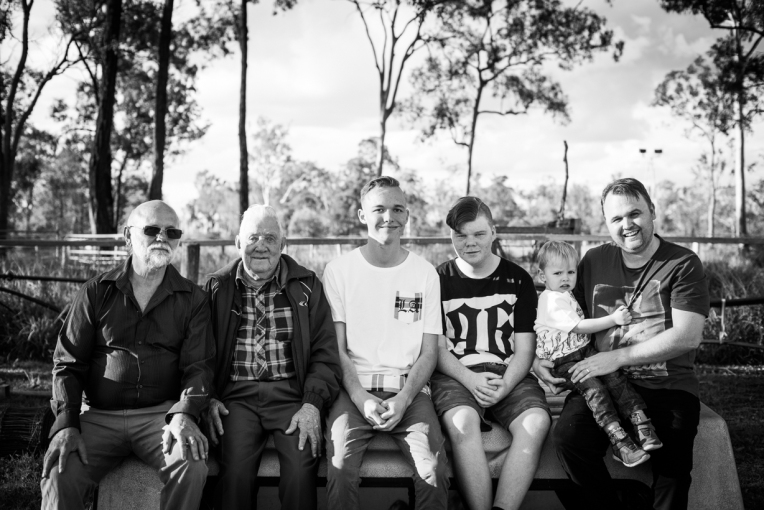 Holznagel Family B&W-13