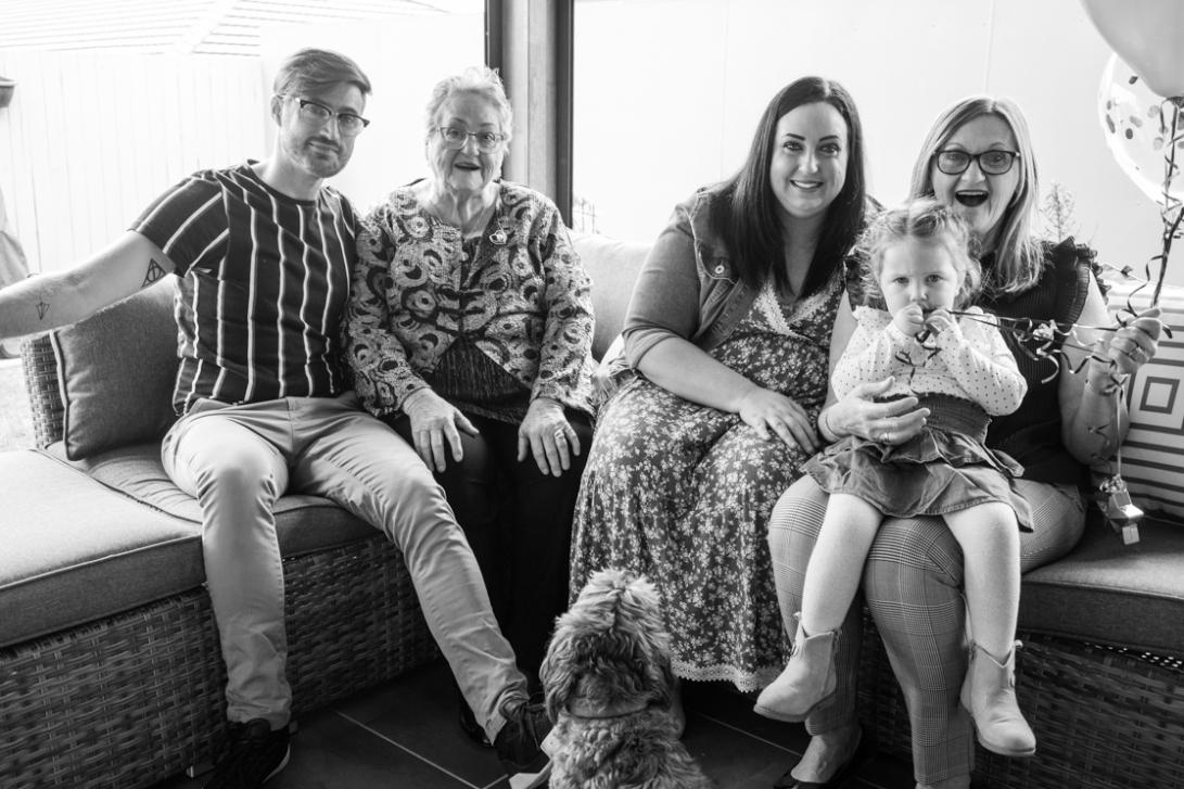 B&W - Ruth's 80th Brithday Family-36