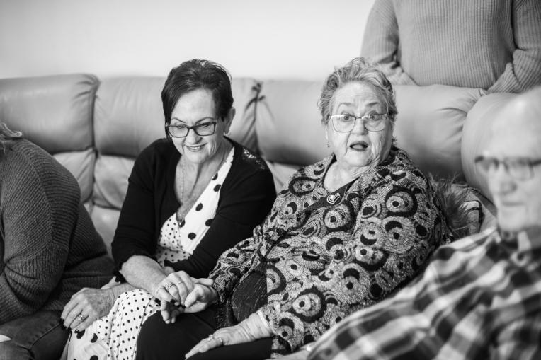 B&W - Ruth's 80th Brithday Family-76