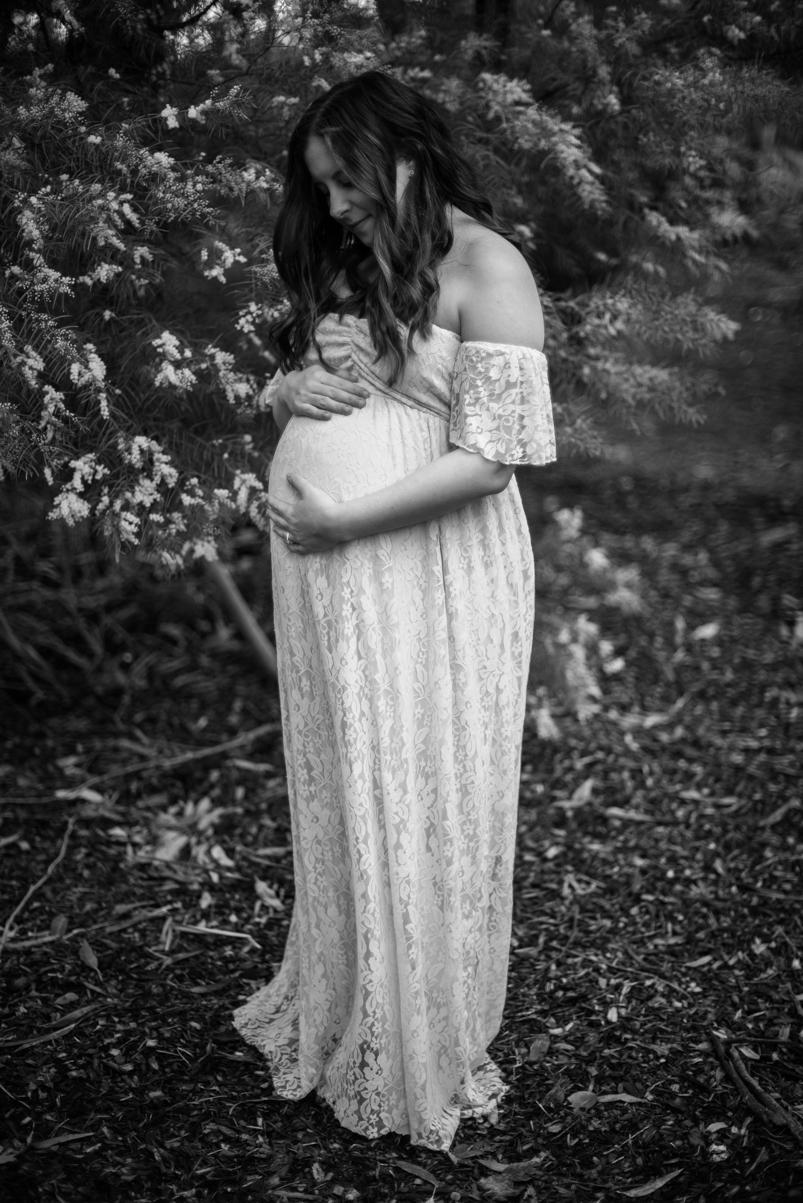 Scott + Ashley Maternity - B&W-25
