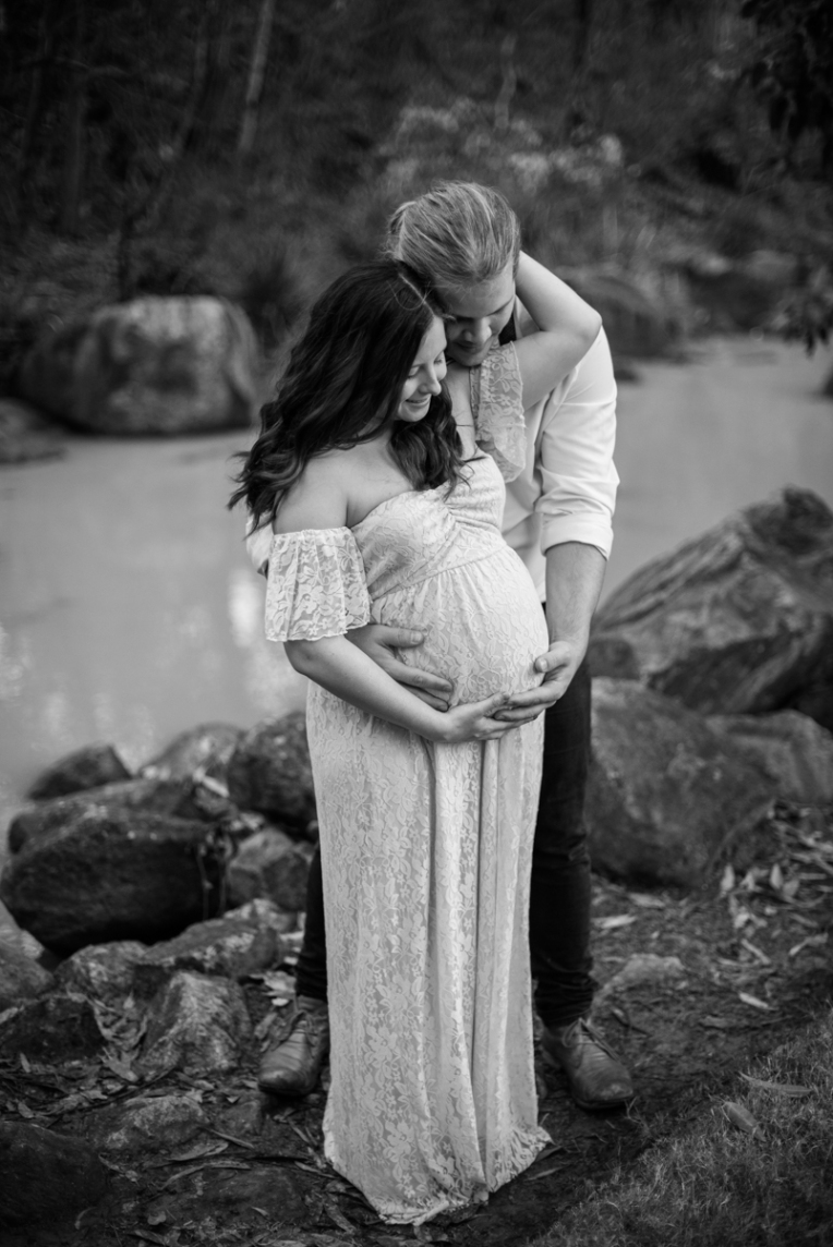 Scott + Ashley Maternity - B&W-40