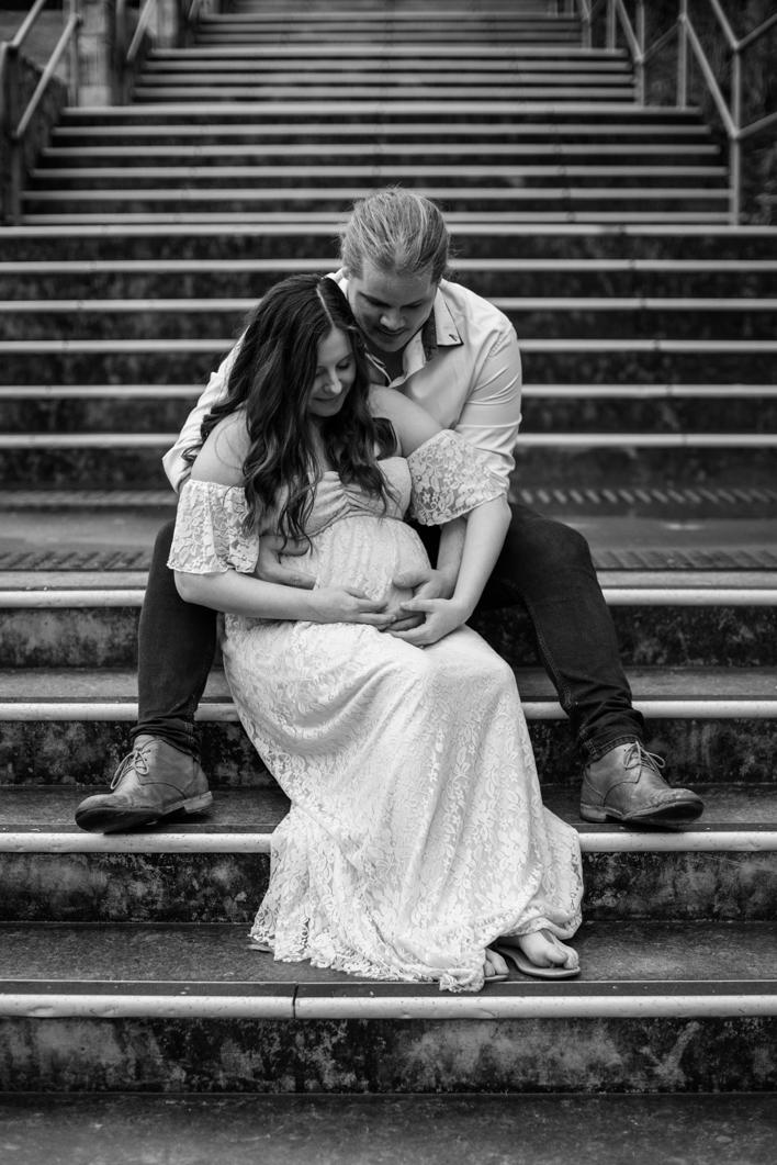 Scott + Ashley Maternity - B&W-44