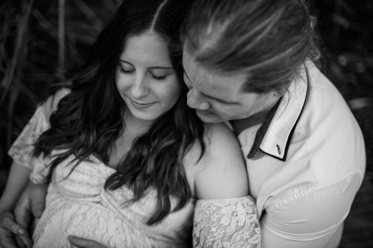 Scott + Ashley Maternity - B&W-55