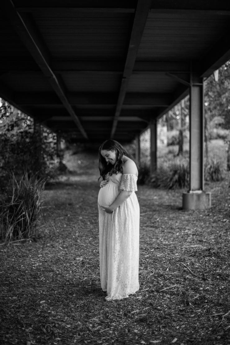 Scott + Ashley Maternity - B&W-65